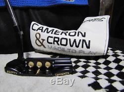 Amazing Custom Tour Matte Black 2017 Scotty Cameron & Crown Newport 34 Putter