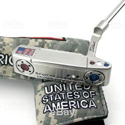 Custom Titleist Scotty Cameron 2018 Newport 2 USA Military Edition Golf Putter
