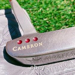 LH! Scotty Cameron Del Mar 3 Pro Platinum 35 Left-Handed Putter with Cover F/S