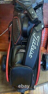 NEW! 2020 Titleist Scotty Cameron Putters Staff Bag with Rain Hood Black Leather