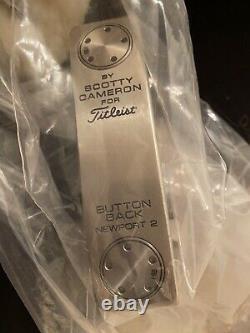 NIB Scotty Cameron Button Back Newport 2 Putter Brand New 34