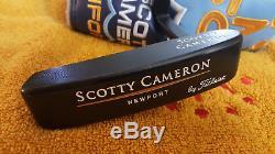 Rare Scotty Cameron Newport Black Custom Shop Putter 35 MINT
