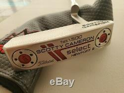 Rare Scotty Cameron Select Newport 2 1st of 500 Putter 34 NEW Limited Edition