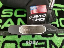 Rare Scotty Cameron Studio Style Newport 2.5 GSS Custom Shop Black Putter 34.5