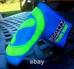 Scotty Cameron Blue and Lime Industrial Circle T Tour Rat Headcover -NEW