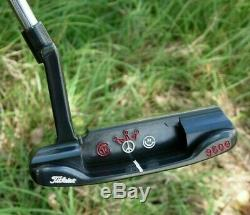Scotty Cameron Circle T Tour Black 009 Carbon Beached 350G Putter -RARE Stamps