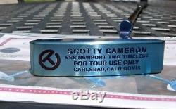Scotty Cameron Circle T Tour Industrial Newport 2 Timeless Blue Pearl Putter-NEW