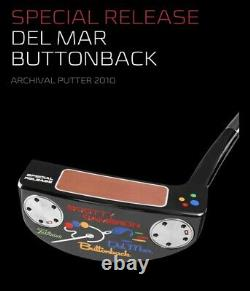 Scotty Cameron Del Mar Buttonback Putter With Headcover Special Release New