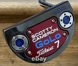 Scotty Cameron GoLo 7 Dual Balance Putter New Xtreme Dark Finish -Turbo Blue