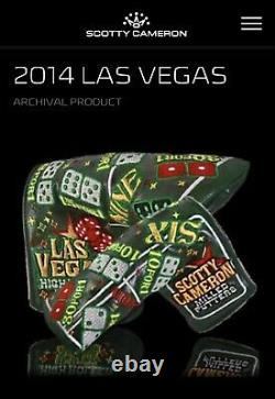 Scotty Cameron Headcover 2014 Las Vegas High Roller Putter Cover Golf New