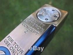 Scotty Cameron Newport Concept 2 Tour Chromatic Bronze & Blue Circle T Putter