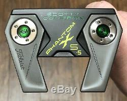 Scotty Cameron Phantom X 5.5 Putter Xtreme Charcoal Finish 4 Leaf Clover