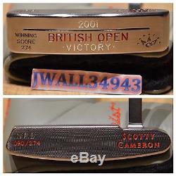 Scotty Cameron Putter 2001 British Open David Duval Newport Beach Victory RH GiP
