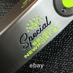 Scotty Cameron Special Select Newport 2 Putter 34/353g Custom Shop Lime Paint