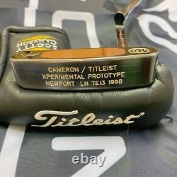 Scotty Cameron Tel3 NEWPORT XPERIMENTAL PROTOTYPE 34LN 1998 With HC From Japan