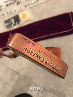 Scotty cameron Santa Fe Copper Head 1 Of 500, Limited Release Rare Item Putter