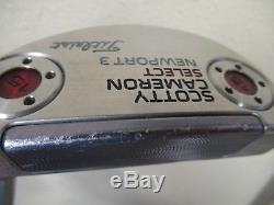 Titleist Scotty Cameron Select Newport 3 Putter 34 Hc Included
